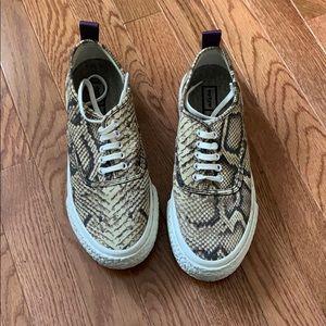 Cute snake skin sneakers